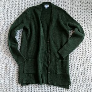 Old Navy fall green boyfriend cardigan sweater